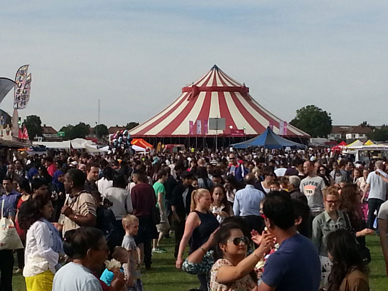 Promoting the Guardian at Gunnersbury Park Mela